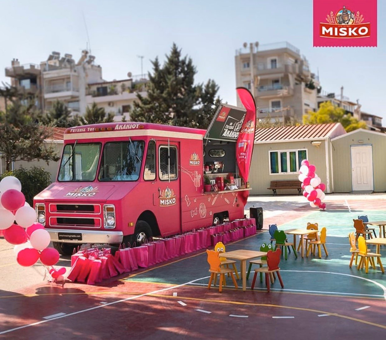 Misko food truck live cooking by smart moving media